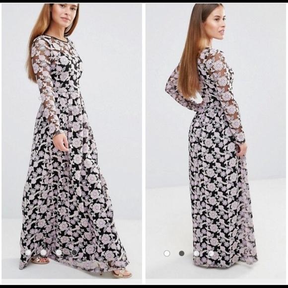 ASOS Petite Dresses & Skirts - Embroidered maxi dress
